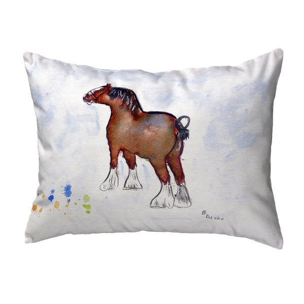Clydesdale Small No-Cord Pillow 11x14