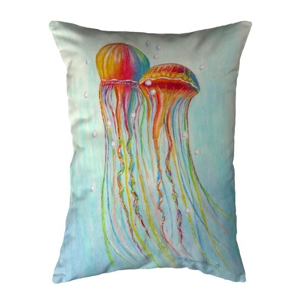 Colorful Jellyfish Extra Large Zippered Pillow 11x14