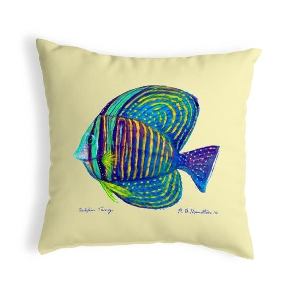 Sailfin Tang - Yellow Small No-Cord Pillow 12x12
