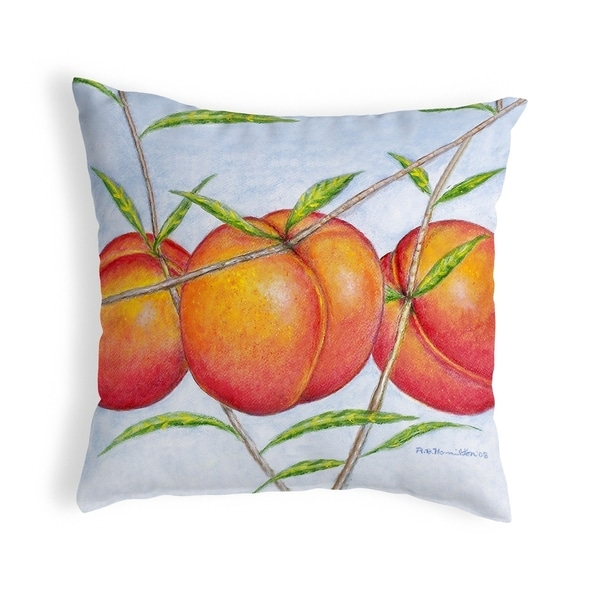 Peaches Noncorded Pillow 12x12
