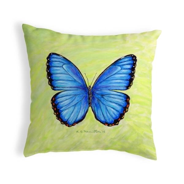 Dick's Blue Morpho Small No-Cord Pillow 12x12