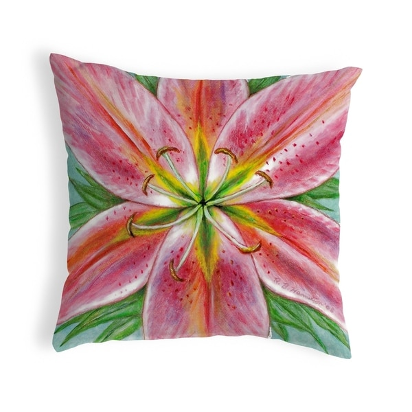 Pink Lily Small No-Cord Pillow 12x12