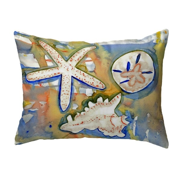 Beach Treasures Small No-Cord Pillow 11x14
