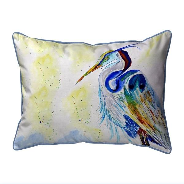 Watercolor Heron Small Pillow 11x14