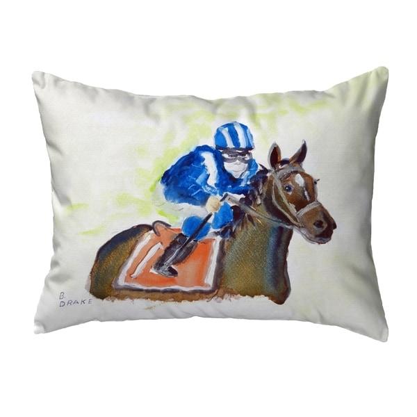 Horse & Jockey Small No-Cord Pillow 11x14