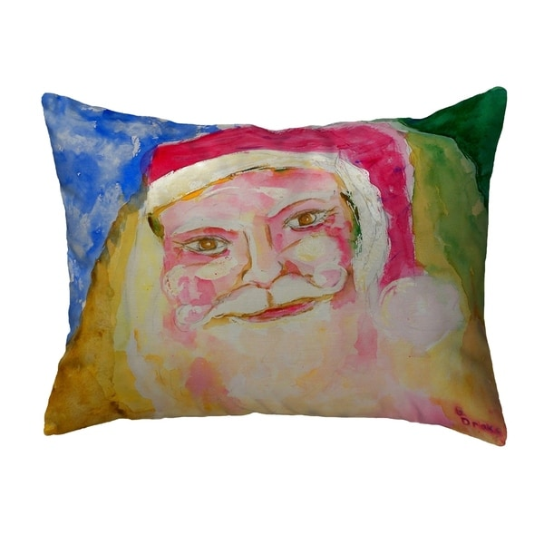 Santa Face Small No-Cord Pillow 12x12