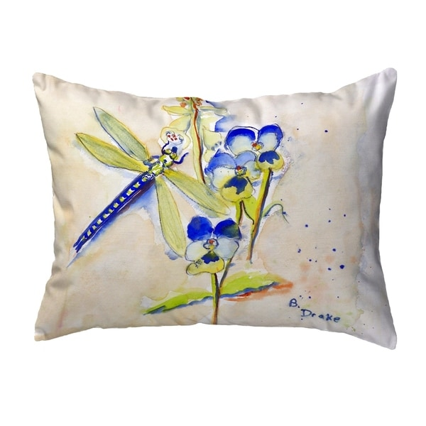 Blue DragonFly Small No-Cord Pillow 11x14