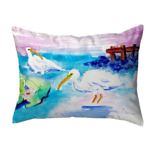 Betsy's White Ibis Small No-Cord Pillow 11x14