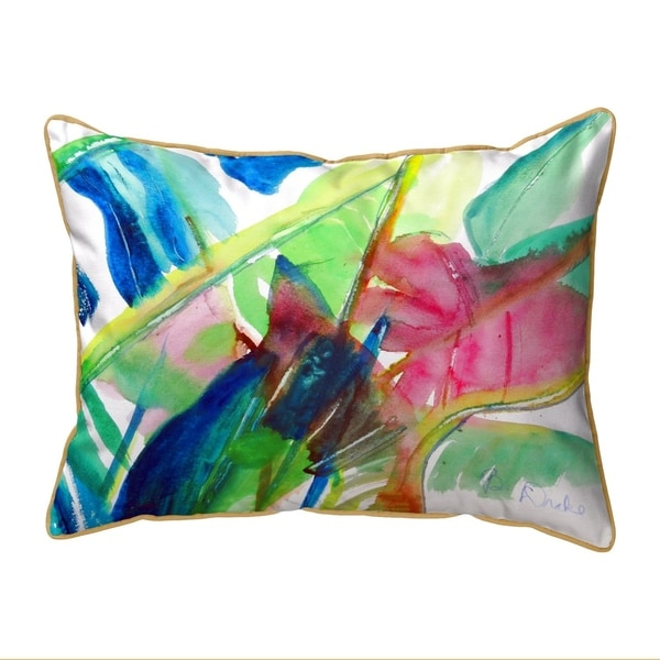 Pink Palms Small Pillow 11x14