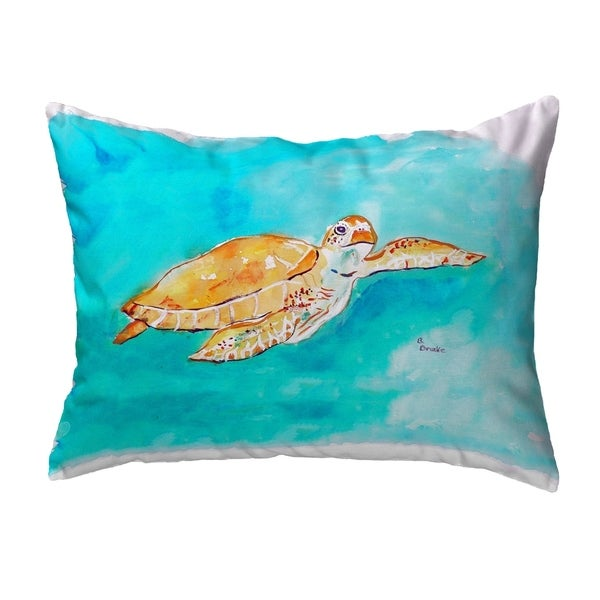 Brown Sea Turtle Small No-Cord Pillow 11x14