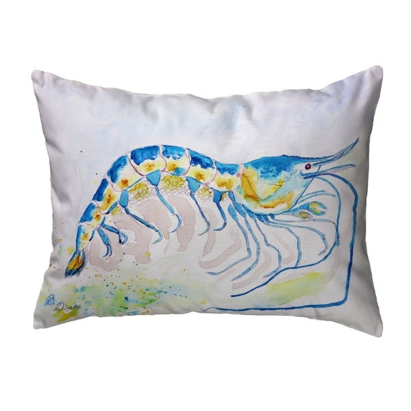 Blue Shrimp Noncorded Pillow 16x20