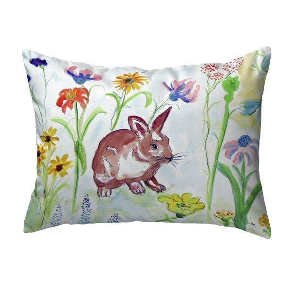 Whiskers Bunny Small No-Cord Pillow 11x14