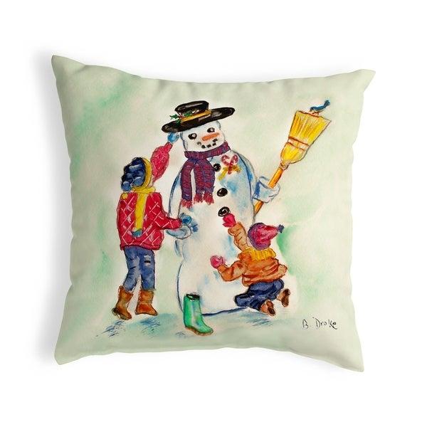 Snowman Small No-Cord Pillow 12x12