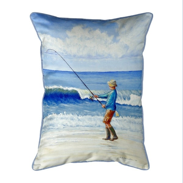 Surf Fishing Small Pillow 11x14