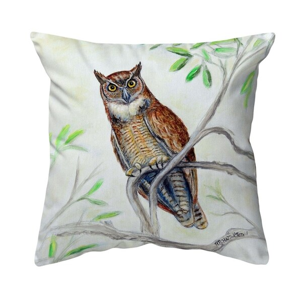 Great Horned Owl Noncorded Pillow 18x18