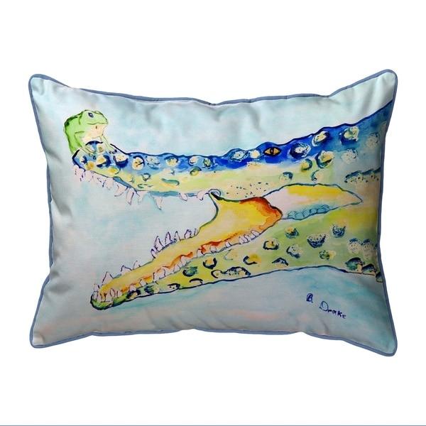 Crocodile & Frog Small Pillow 11x14