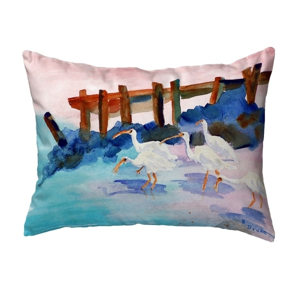 White Ibises Small No-Cord Pillow 11x14