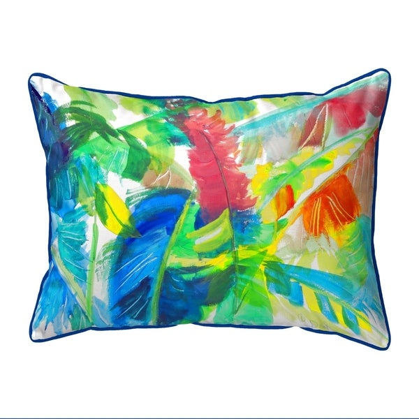 Abstract Palms Extra Large Zippered Pillow 20x24