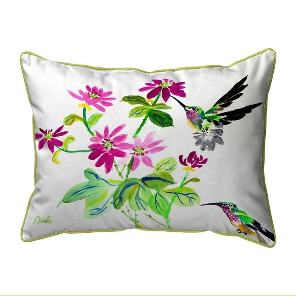 Ruby Throat Extra Large Zippered Pillow 20x24