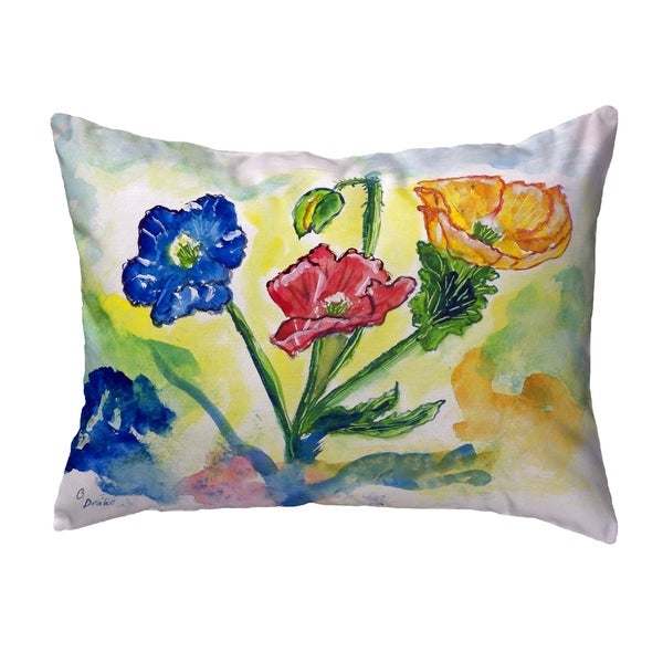 Bugs & Poppies Small No-Cord Pillow 11x14