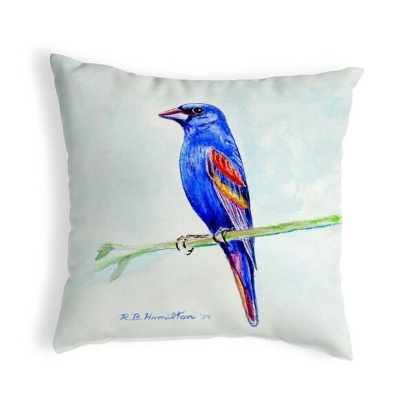 Blue Grosebeak Small No-Cord Pillow 11x14