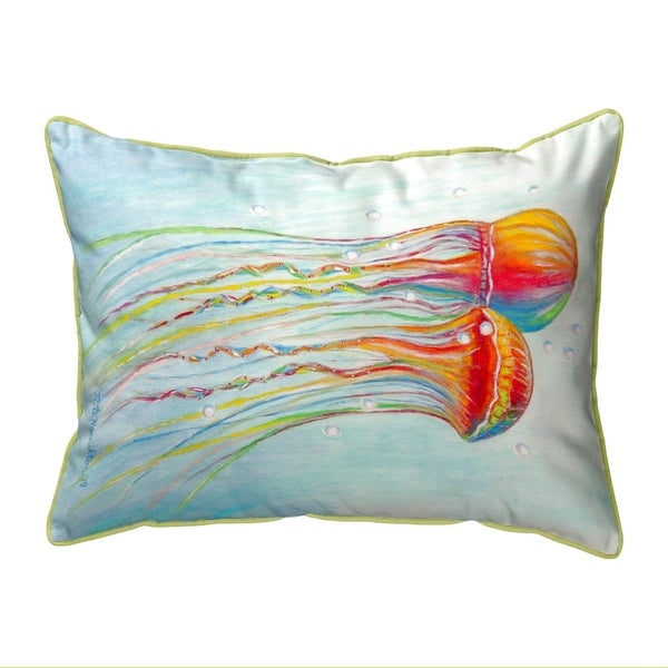 Colorful Jellyfish Small Pillow 11x14