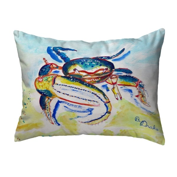 Colorful Fiddler Crab Noncorded Pillow 16x20