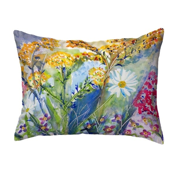 Wild Flower Small No-Cord Pillow 11x14
