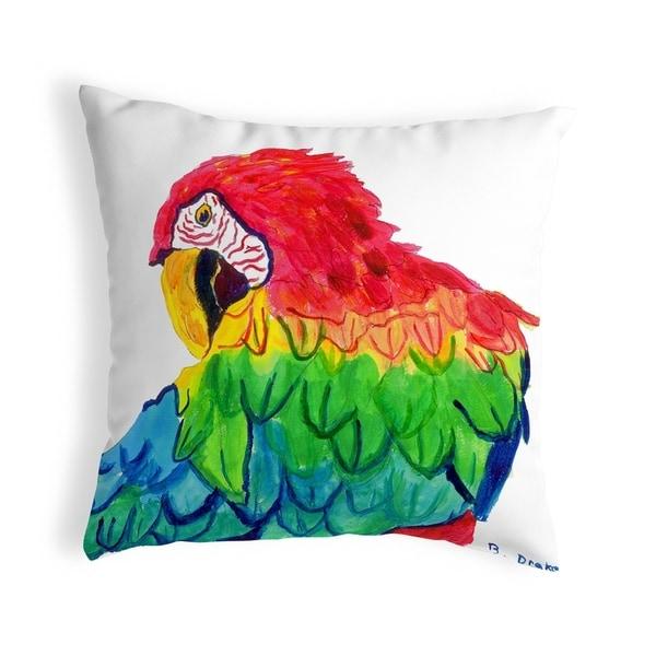 Parrot Head Small No-Cord Pillow 12x12