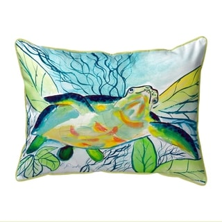 Smiling Sea Turtle Small Pillow 11x14