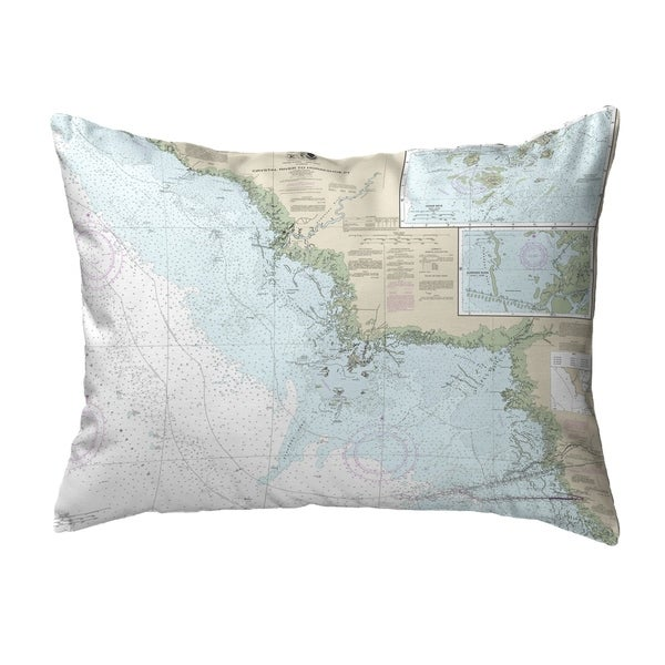 Crystal River to Horseshoe Point, FL Nautical Map Noncorded Pillow 11x14