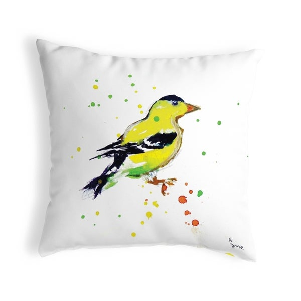 Betsy's Goldfinch Small No-Cord Pillow 12x12