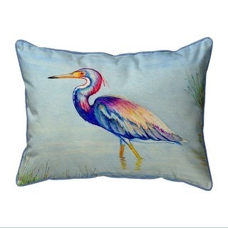 Tri-Colored Heron Small Pillow 11x14