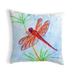 Red DragonFly No Cord Pillow 18x18