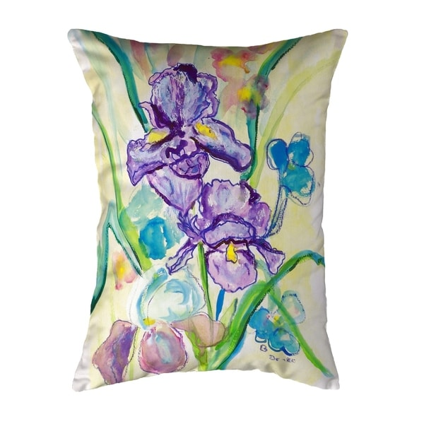 Two Irises Small No-Cord Pillow 11x14