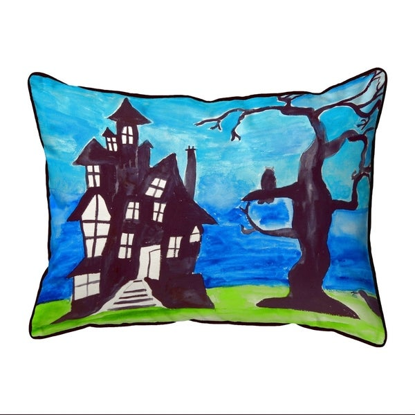 Haunted House Extra Large Zippered Pillow 20x24