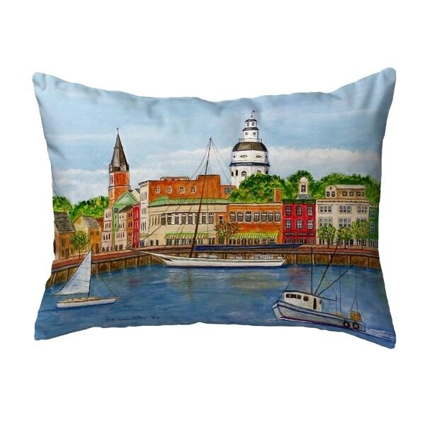 Annapolis City Dock Small No-Cord Pillow 11x14