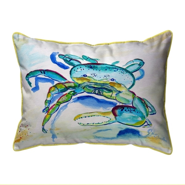 Blue Fiddler Crab Small Pillow 11x14