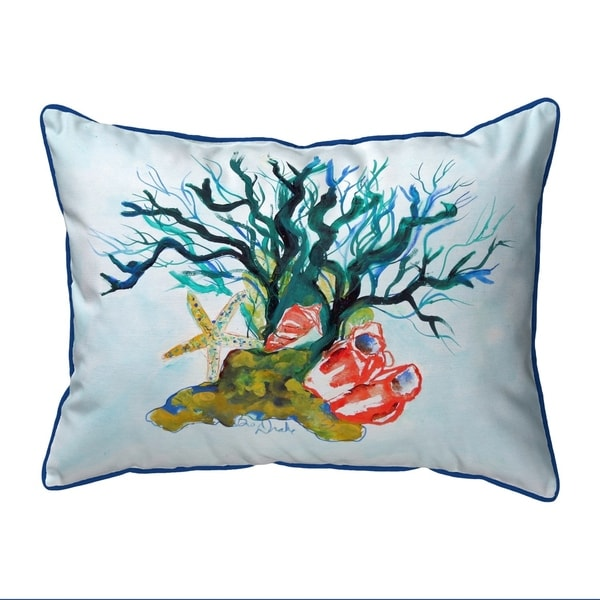 Starfish Coral Shells Small Corded Pillow 11x14