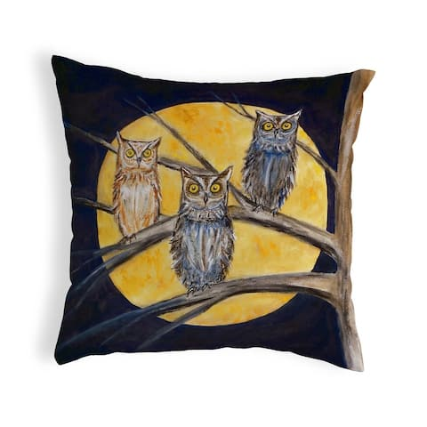 Night Owls Small No-Cord Pillow 12x12