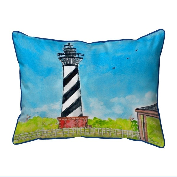 Hatteras Lighthouse Extra Large Corded Pillow 20x24