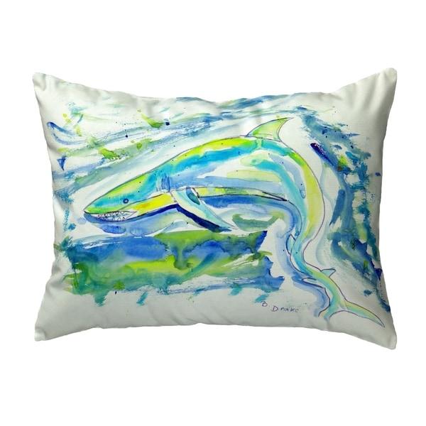 Green Shark Small No-Cord Pillow 11x14