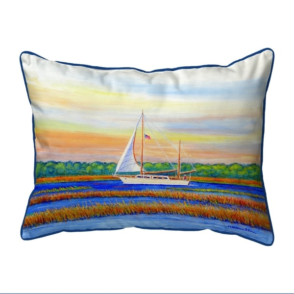 Marsh Sailing Extra Large Corded Pillow 20x24