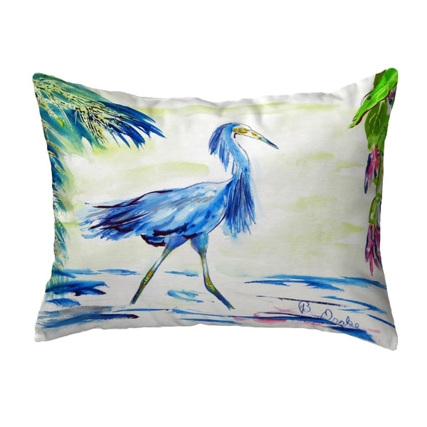 Blue Egret No Cord Pillow 16x20