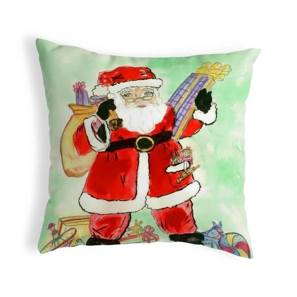 Santa Small No-Cord Pillow 12x12