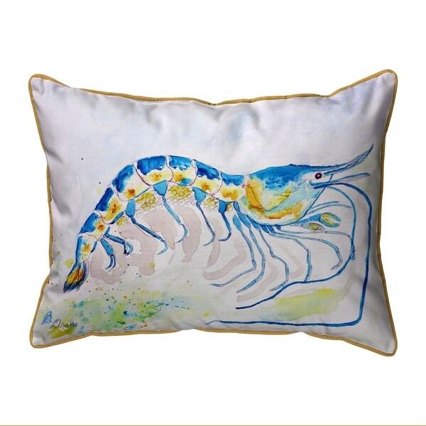 Blue Shrimp Small Pillow 11x14