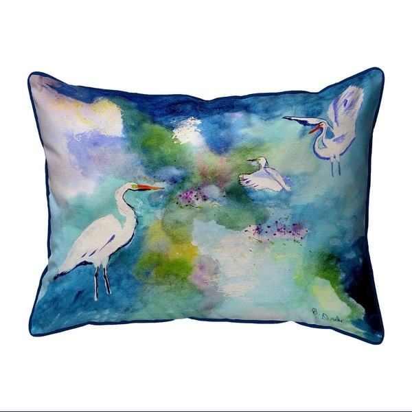 Three Egrets Extra Large Zippered Pillow 20x24