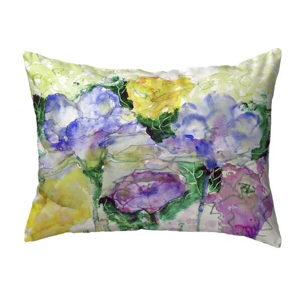 Watercolor Garden Small No-Cord Pillow 11x14