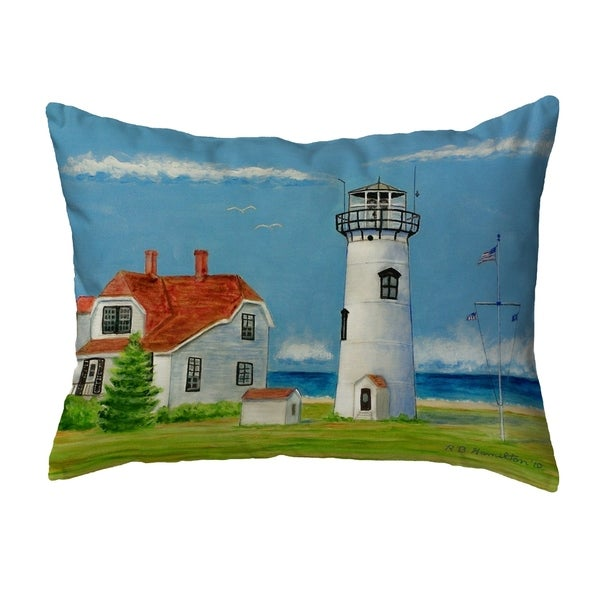 Chatham MA Lighthouse Small No-Cord Pillow 11x14