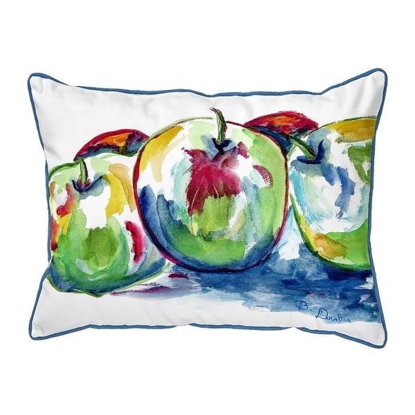 Three Apples Small Pillow 11x14